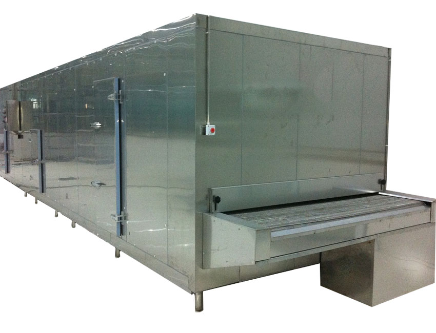Impingement Mesh Belt Tunnel Freezer for Shrimp/Fish/Meat/Seafood