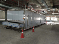 First cold chain engineers in Jordan successfully installed 500kg/H tunnel quick machine for chicken breast